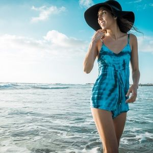 Tie-Dye Beach Romper